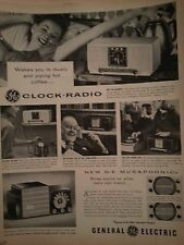 1955 General Electric Clock Radio New GE Musaphonic Original Ad
