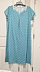 Croft and Barrow ballerina extra soft short sleeved nightgown size XL