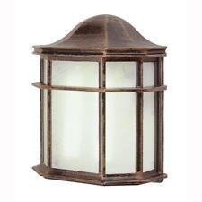 Bel Air Lighting 1-Light Rust Outdoor Energy Saving Patio Wall Lantern Sconce