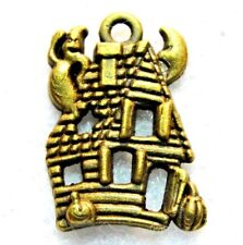50Pcs. Wholesale Tibetan Ant. Bronze Halloween Haunted House Ghost Charms Q1268