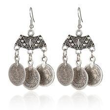 Pendientes Colgantes de gota moneda Boho Bohemio Gypsy étnico tribal joyería vintage