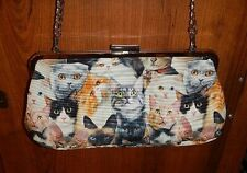 Pussy Cat Shoulder Handbag - Made by Cat Lady - Brand New