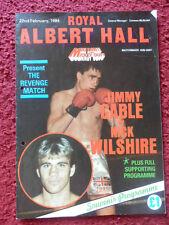 Programa de boxeo-Jimmy Cable V Nick Wilshire 1984