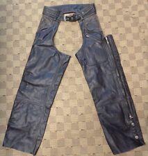 Harley Davidson Distressed LINED Vtg Leather Panhead II Chaps Size Mens MEDIUM