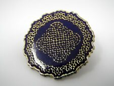 Vintage Collectible Pin: Purple Mandala Like Great Design