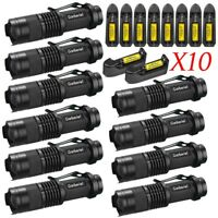 LOT Garberiel Tactical Mini 15000LM Q5 LED 14500 Rechargeable Flashlight Torch