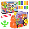 Domino Rally Electronic Train Model Kids Colorful Toy Set Children Gift UK STOCK
