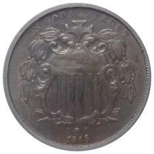 1866 5C Shield Nickel w Rays - ICG AU58 - 1st 5 Cent Nickel Produced in U.S.