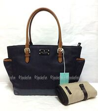 Kate Spade WKRU3249 Dixon Place Small Coal Baby Diaper Bag INDIGO Denim Blue NWT