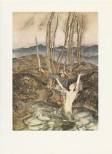 "1975 full Color Plate "" Clerk Colville "" by Arthur Rackham"