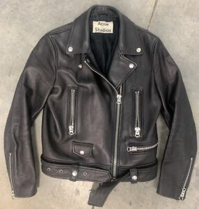 ACNE STUDIOS Mock Leather Jacket, Black. 38