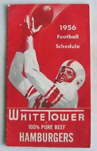 1956 Football Schedule College and NFL White Tower Hamburgers