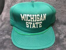 VTG-1980s Michigan State Deadstock foam mesh trucker snapback hat