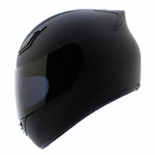 Duke Full Face Motorcycle Helmet DOT Matte Black + 2 VISORS - S M L XL XXL