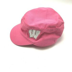 Wisconsin Badgers Military Cadet Womens Hat Cap Strapback Pink White Sparkly