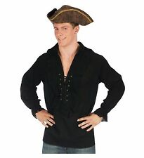 Swashbuckler Pirate Vampire Shirt Adult Costume Accessory, Black, Standard Size