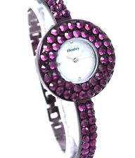 Henley Ladies Watches with Impressive Diamante Dial Rim, Gift Box, Low Price NEW