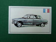 N°187 PEUGEOT 204 FRANCE PANINI 1972 HISTOIRE DE L'AUTOMOBILE