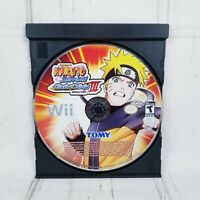 Naruto Shippuden Clash of Ninja Revolution III DISC ONLY Nintendo Wii