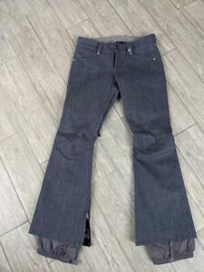 womens BURTON snowpants DENIM blue jeans MEDIUM snowboard B BY BURTON dryride