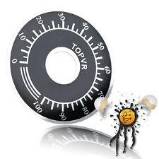 Alu Potentiometer 40 mm Ø Skalierscheibe Skale Disk innen 10mm Ø 0-100% Ardnuino