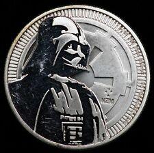 2017 NZM Nuie New Zealand Mint 1 ozt Silver $2 Round Darth Vader STAR WARS