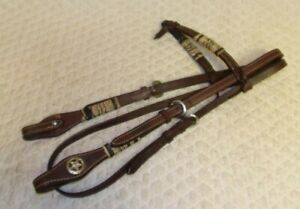 QUALITY - Western Leather SHOW Ranch Headstall - Full/Average - Rawhide - GREAT