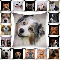 Tier Hund Kissenbezug Polyester Kissenbezüge Kissenhülle Kissen Hülle Home Dekor