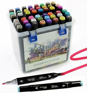 Cavepop 48 Colors Dual Tip Alcohol Based Sketch Markers Set