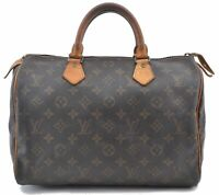 Authentic Louis Vuitton Monogram Speedy 30 Hand Bag M41526 LV B4769