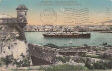 B78040  ship vista desde el morro  havana cuba scan front/back image