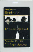 BEE GEES 1997 MGM GRAND LAS VEGAS LAMINATED BACKSTAGE PASS