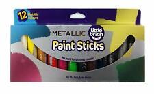 Little Brian LBPS10MA12 Malstifte metallische Farben 12er-pack
