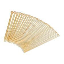 9 pulgadas de largo agujas de tejer de bambú carbonizadas circular US 0-5 pequeños corto