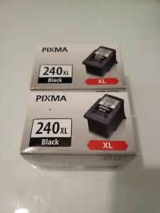 Genuine Canon Pixma PG-240XL Black Ink Cartridges Set of 2 New A