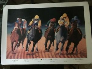 Horse Racing Ltd Ed. Preakness 122 Silver Charm Signed by 5 Jocks, Nick Martinez