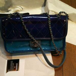 CHANEL PVC Shoulder Bag Blue / Dark Blue 2018 Limited quantity
