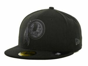 Official Washington Redskins New Era NFL Black Gray Basic 59FIFTY Fitted Hat