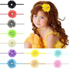 11 Pcs Kids Girl Baby Headband Toddler Lace Bow Flower Hair Band Accessories Us