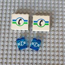 Lego City System Panel Weiß Blau Bruckt Telefon Vintage (12)
