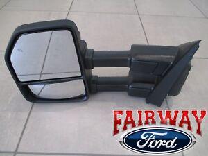 17 thru 20 Super Duty F250 F350 OEM Ford Black Heat Signal Tow Mirror LH DRIVER