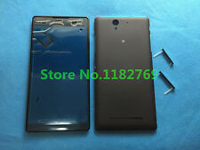 Front Panel Battery Door Housing Cover SIM Plug For Sony Xperia C3 S55T S55U