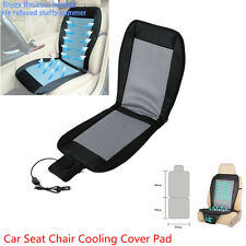 Black & Gray 12V Car Seat Cooler Cushion Mat Summer Cooling Wind Seat Cover Pad