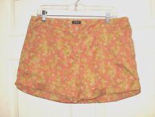 J. CREW Women's Multi-color Floral Print Chino Shorts Size 10 CUTE EUC