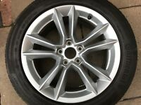 "GENUINE OEM AUDI A4 B9 8W 17"" SPARE ALLOY WHEEL & 7MM CONTI TYRE 8W0601025AG"