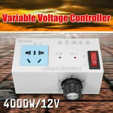 NEW 4000W AC 220V Variable Voltage Controller Control For Fan Speed Motor Dimmer
