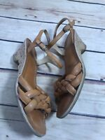 Fashion Womens Size 8 Brown Sandals Leather Heel Pump Open Toe Made in Brazil