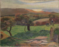 Paul Gauguin Landscape from Bretagne Giclee Canvas Print Paintings Poster