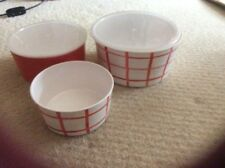 3 containers 2 with lids ideal for picnic outdoor eating etc