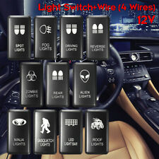 White LED Fog Light Bar Push Switch For Toyota Landcruiser Hilux Prado HIACE AU